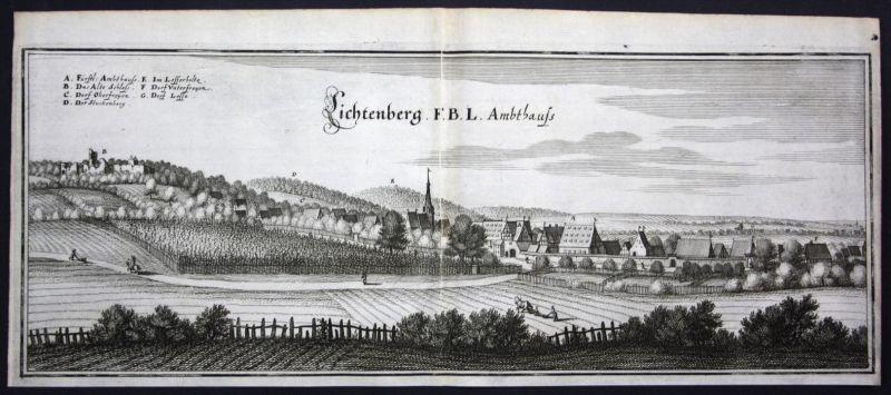 Lichtenberg / Salzgitter - Kupferstich Merian