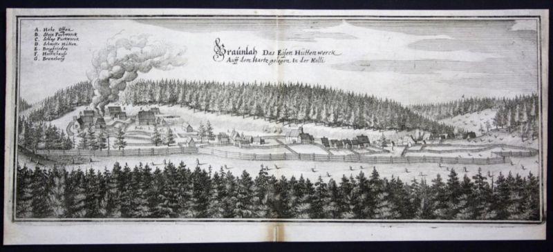 Braunlage / Harz / LK Goslar - Kupferstich Merian