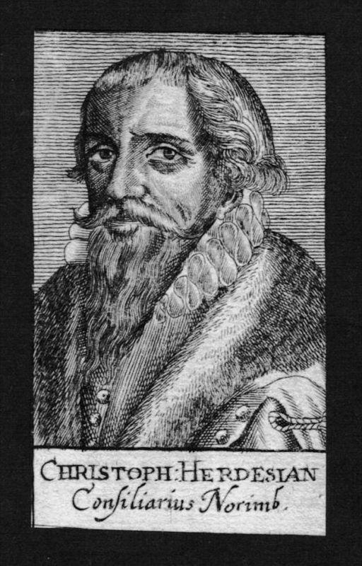 Christoph Herdesianus Jurist lawyer Nürnberg Kupferstich Portrait