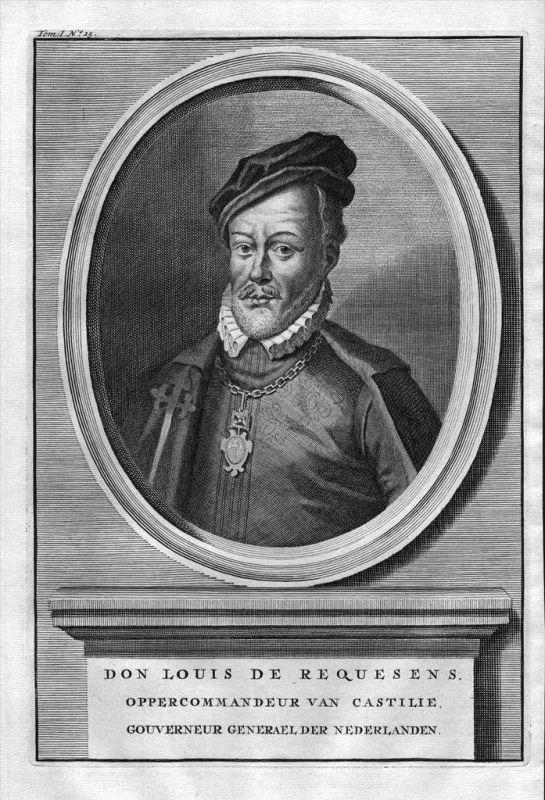 Luis de Zuniga y Requesnes Espana Spain engraving Kupferstich Portrait