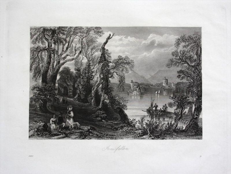 Innisfallen Island Irland Ireland antique print engraving Stahlstich