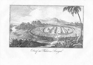 Senegal Africa Afrika map Original Kupferstich engraving antique print