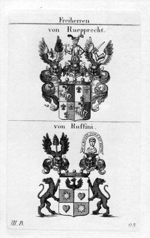 Rupprecht Ruffini - Wappen Adel coat of arms heraldry Heraldik Kupferstich