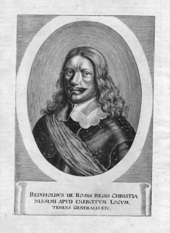 Reinhold von Rosen Generalleutnant Portrait Merian