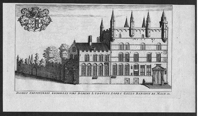 Brugge Bruges Flanders Kupferstich gravure engraving map carte