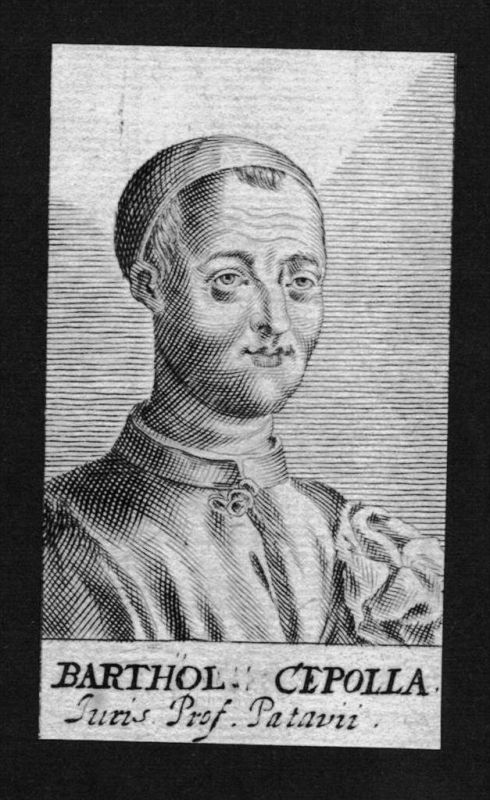 Bartholomäus Cepolla Jurist lawyer Italien Italy Kupferstich Portrait