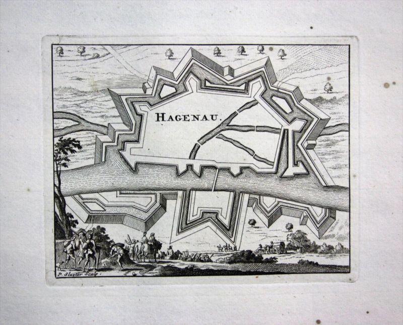 Haguenau Elsass Alsace gravure Kupferstich Ratelband