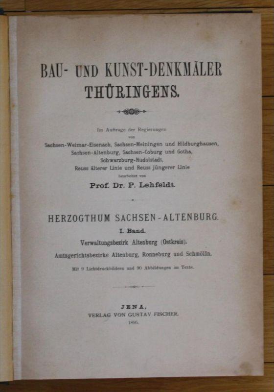 -1895 Kunst-Denkmäler Thüringens Sachsen-Altenburg Ronneburg Roda Kahla
