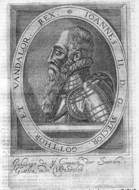 Johann I. of Denmark Norway Sweden Portrait Kupferstich engraving