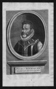 Pedro Henriquez de Acevedo Toledo Fuentes Portrait Kupferstich