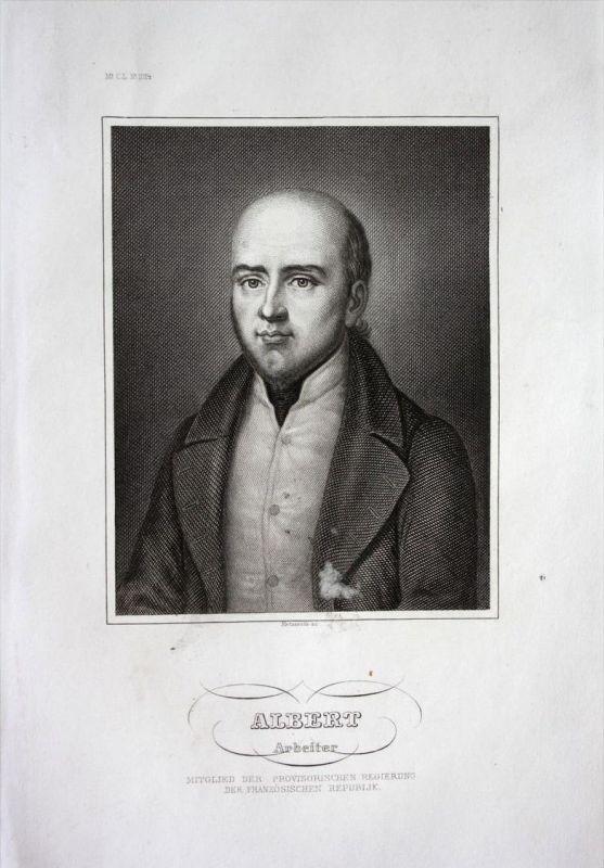 Albert Arbeiter Politiker politician Frankreich France Stahlstich Portrait
