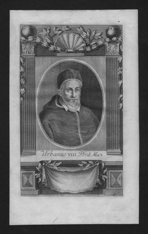 Urban VIII Maffeo Barberini Papst pope papa Kupferstich Portrait