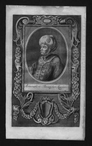 Murad IV Sultan des Osmanischen Reiches Kaiser Kupferstich Portrait