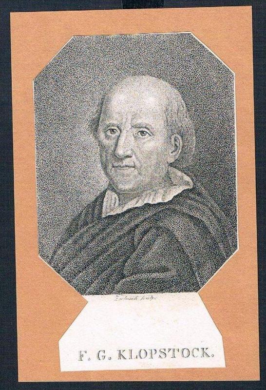 Friedrich Gottlieb Klopstock Kupferstich Portrait engraving