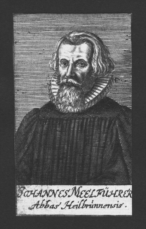 Johannes Meelführer Theologe Professor Heilsbronn Kupferstich Portrait