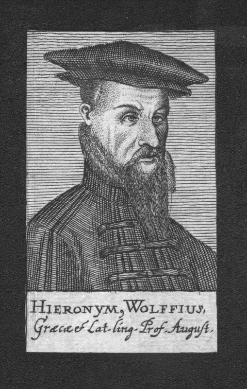 Hieronymus Wolf Humanist Philologe Professor Kupferstich Portrait