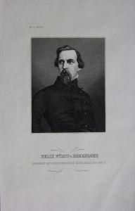 Felix Fürst von Hohenlohe engraving Original Stahlstich Portrait