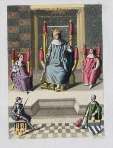 Karl VII Frankreich Charles VII de France Aquatint aquatint antique print