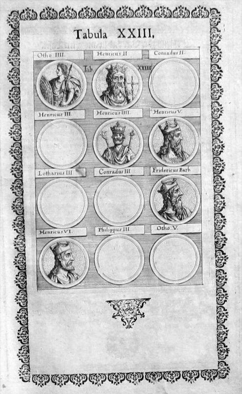 Antike Römer Griechen Portraits Altertum Merian Kupferstich gravure