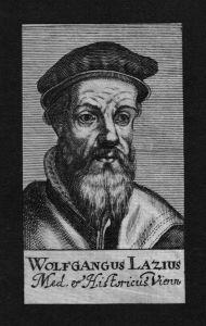 Wolfgang Lazius Laz Arzt doctor Professor Wien Kupferstich Portrait