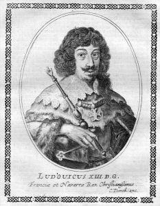 Ludwig XIII - König von Frankreich und Navarra (1601 - 1643) Kupferstich Portrait