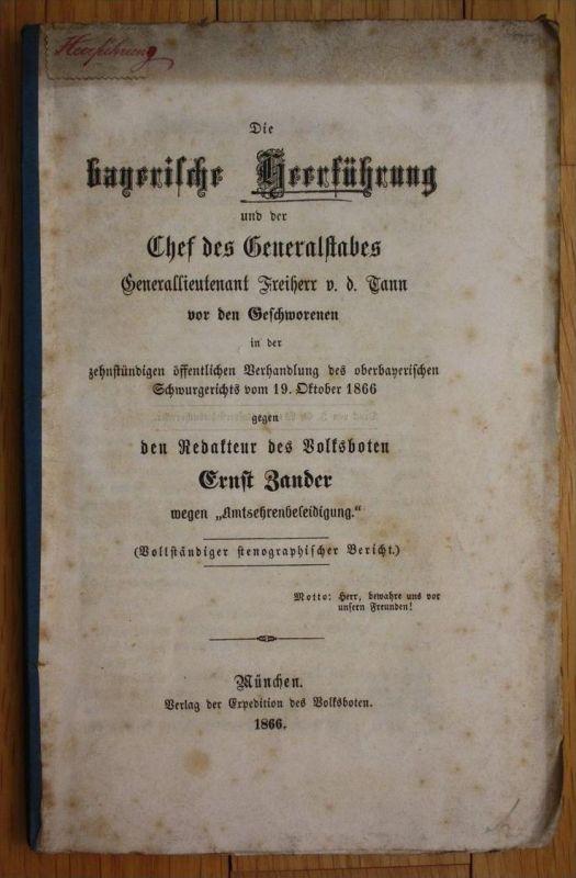 Zander bayerische Heerführung Militaria Bayern Armee Gerichtsverhandlung