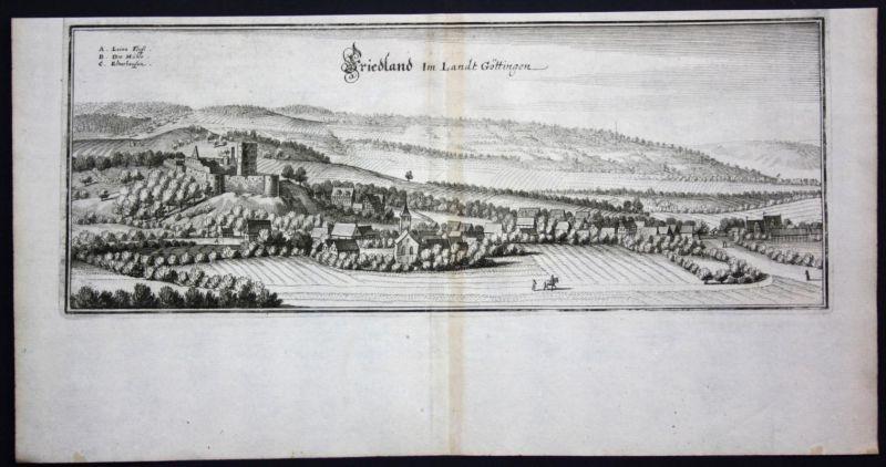 Friedland / LK Göttingen - Kupferstich Merian