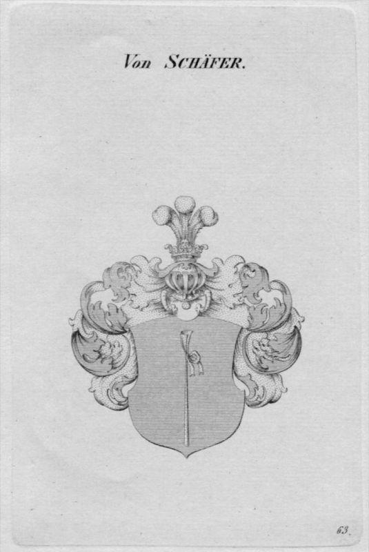 Schäfer Wappen Adel coat of arms heraldry Heraldik Kupferstich