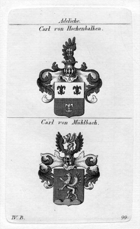 Carl - Wappen Adel coat of arms heraldry Heraldik Kupferstich