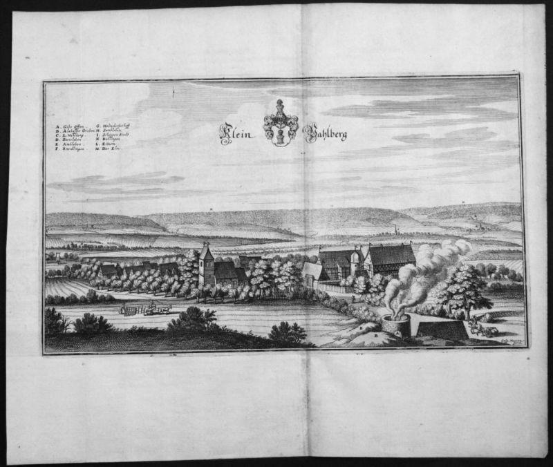 Vahlberg - LK Wolfenbüttel Elm - Asse - Kupferstich Merian