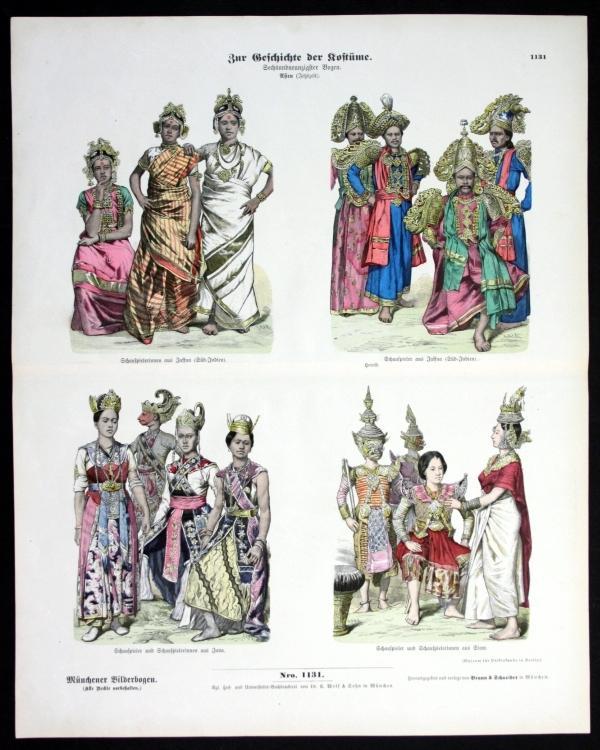 Kostüme - Geschichte - Asien - Münchener Bilderbogen