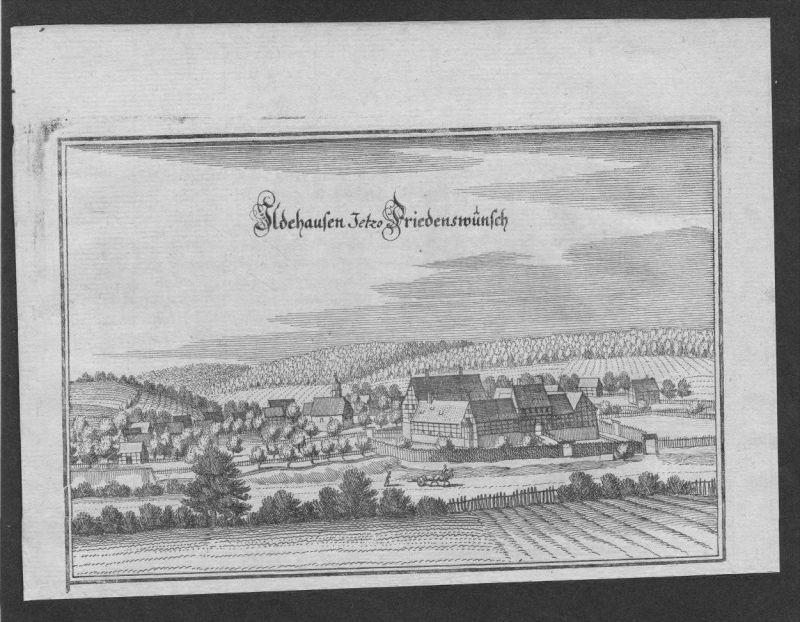 Ildehausen Seesen Lk Goslar Original Kupferstich Merian