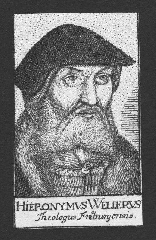 Hieronymus Weller Theologe Professor Freiberg Kupferstich Portrait