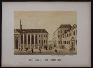 Hamburg Zuchthaus Gefängnis Lithographie