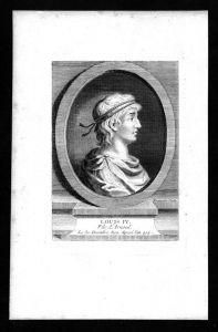 Ludwig das Kind Louis IV König Franken Karolinger Kupferstich Portrait