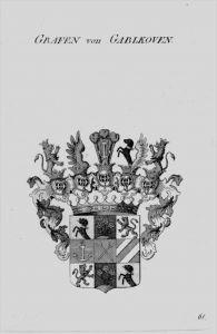 Gablkoven Wappen Adel coat of arms heraldry Heraldik crest Kupferstich