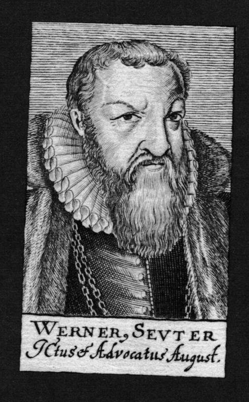Werner Seuter Jurist lawyer Professor Universität Kupferstich Portrait