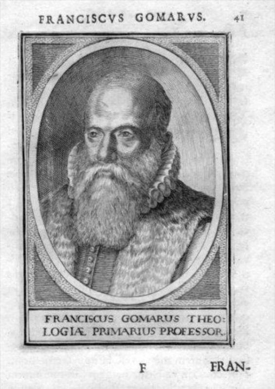 Franciscus Gomarus Leiden Holland Kupfer Portrait Kupferstich gravure