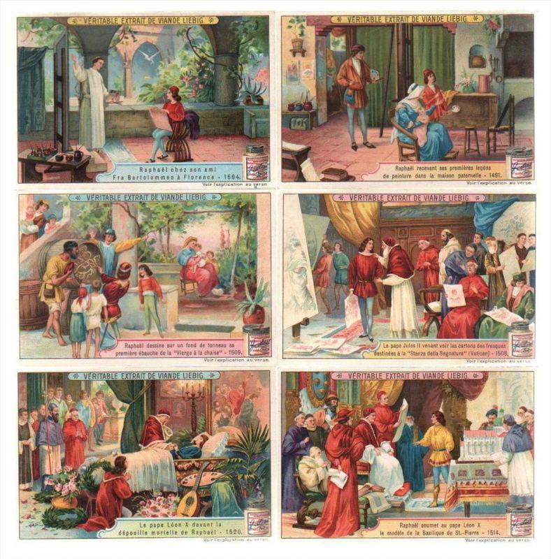 Raffael Raphael Maler painter Lithographie lithograph Liebig Chromo