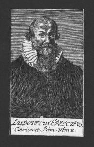 Ludovicus Episcopus Theologe Mechelen Ulm Straubing Kupferstich Portrait