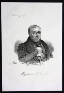 Nepomucene Lemercier Dichter poet Frankreich Lithographie Portrait
