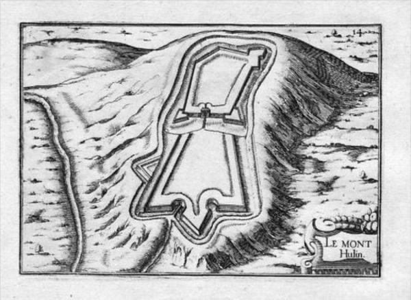 Mont Hulin Pas-de-Calais Gravure France Tassin