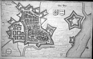 - Wesel Niederrhein Stadtplan Kupferstich Merian