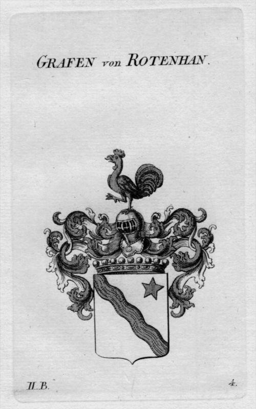 Rotenhan Wappen Adel coat of arms heraldry Heraldik crest Kupferstich