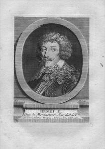 Henri II de Montmorency Herzog Admiral Frankreich Kuperstich Portrait