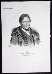Jean Baptiste de Sanson Pongerville Dichter poet Lithographie Portrait