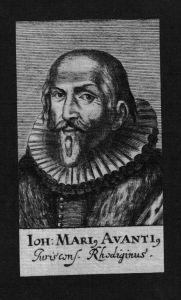 Girolamo Avanzi Avantius Jurist lawyer Humanist Kupferstich Portrait