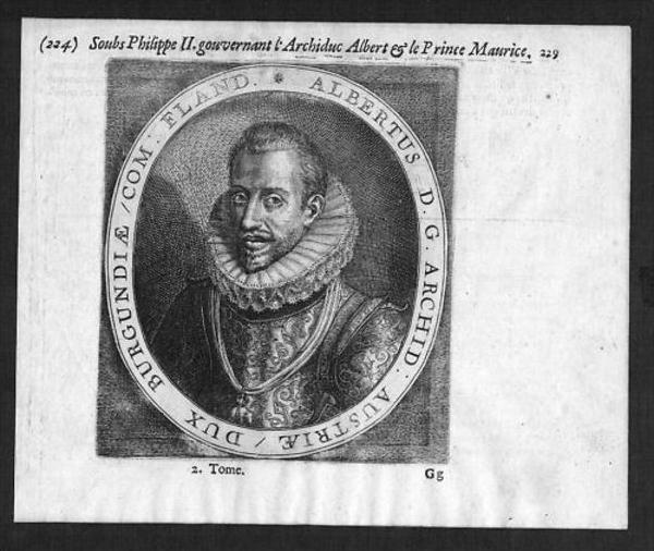 Albrecht VII Österreich Kupferstich Portrait
