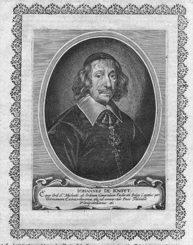 Johan de Knuyt van Weelde-Ravels Original Kupferstich Portrait engraving