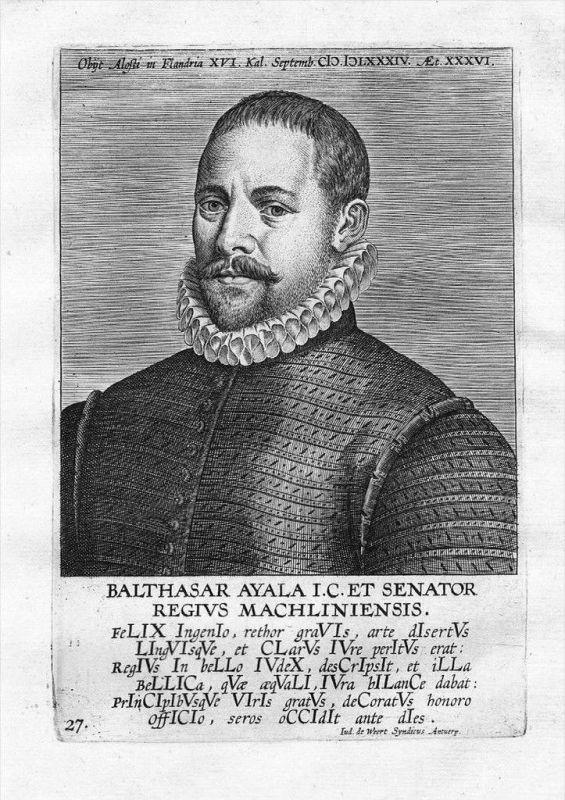 Balthasar de Ayala jurist Espana Kupferstich Portrait engraving
